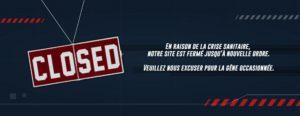 site fermé